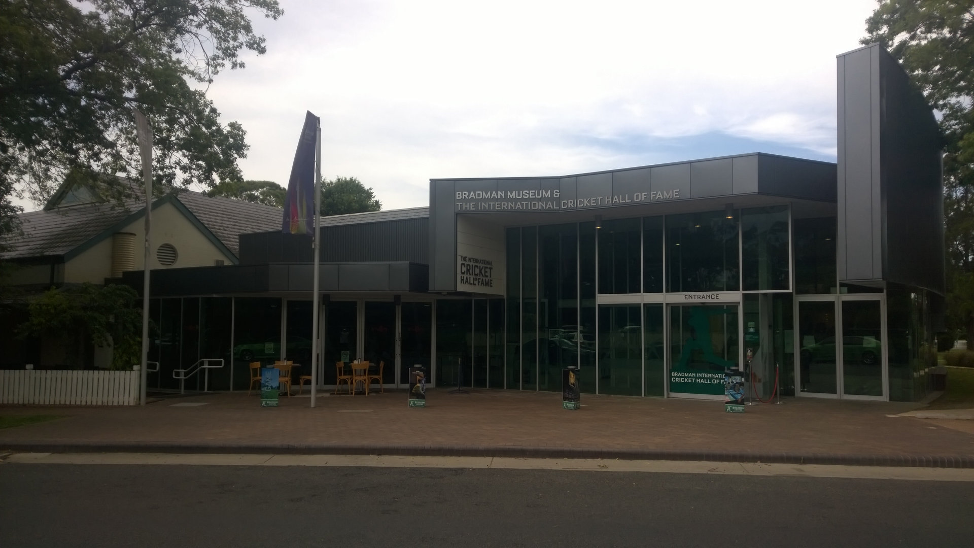 Entrance to the Bradman Museum in Bowral, exhibiting information about Sir Donald Bradman and the sport of cricket