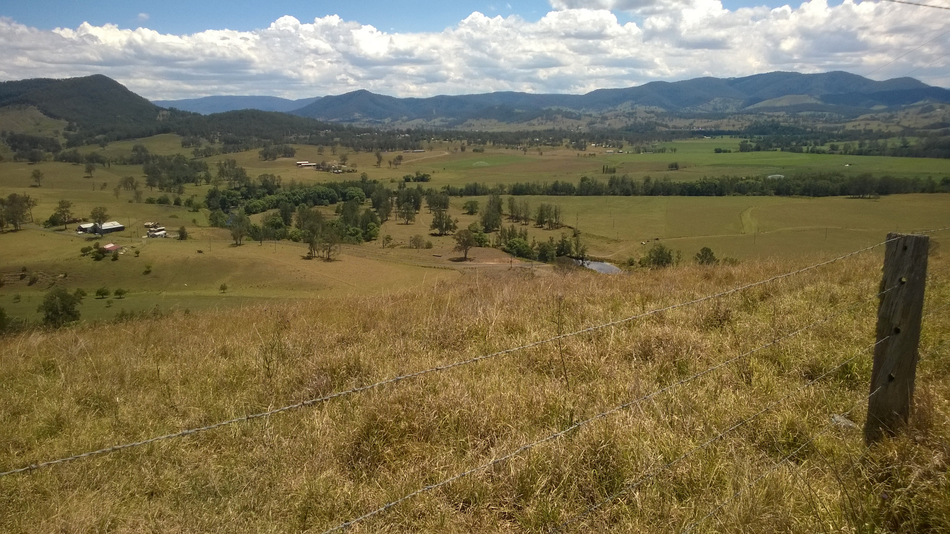 Panoramic views over Gloucester and Barrington Valley from the Kia Ora Lookout