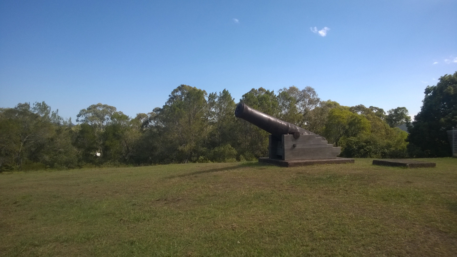 Cannon on top of Silo Hill which contains 8 underground grain silos in a hill looking over the Stroud township, built in 1841
