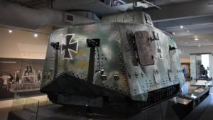 German A7V tank, Mephisto, located in the Queensland Museum in Brisbane