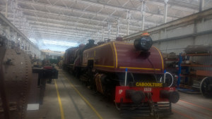 The 1009 locomotive at The Workshops Rail Museum in Ipswich