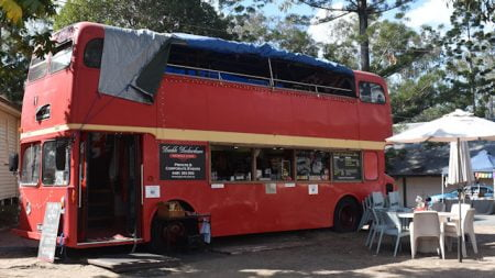 Double Deckerdance Bus at Old Petrie Town