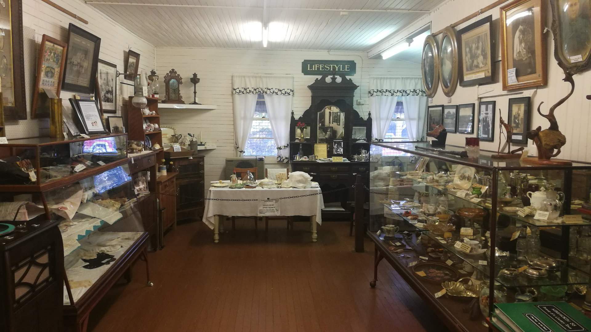 Displays inside the Kenilworth Historical Museum, a volunteer run museum capturing the history and heritage of the Kenilworth area