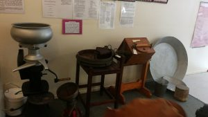 Cream separators and butter churn at Kenilworth Historical Museum