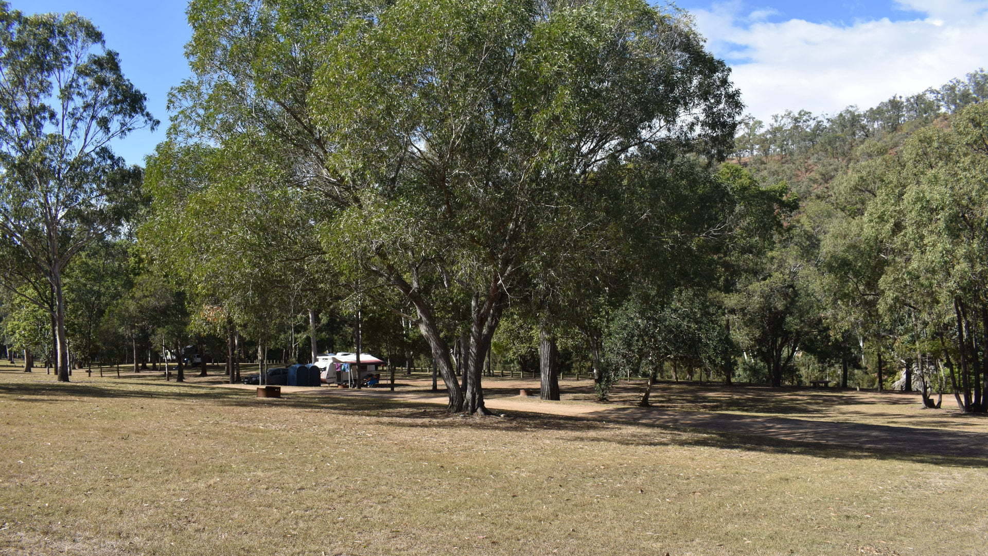 Emu Creek campground at Benarkin State Forest, located on the D'Aguilar Hwy west of Kilcoy before reaching Blackbutt. Camping in Benarkin State Forest at Clancy's or Emu Creek, and a day use area at Emu Creek