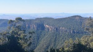 View from Mt Castle Lookout at Goomburra Section Main Range National Park
