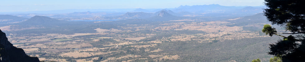 View from Sylvesters Lookout at Goomburra Section Main Range National Park