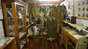 Military display in the museum at Yarraman Heritage House