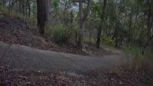Steep path on the climb up to the summit of Mt Beerburrum