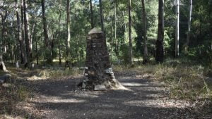 Cairn built as a memorial for the pioneer graves at Spicers Gap in Main Range National Park