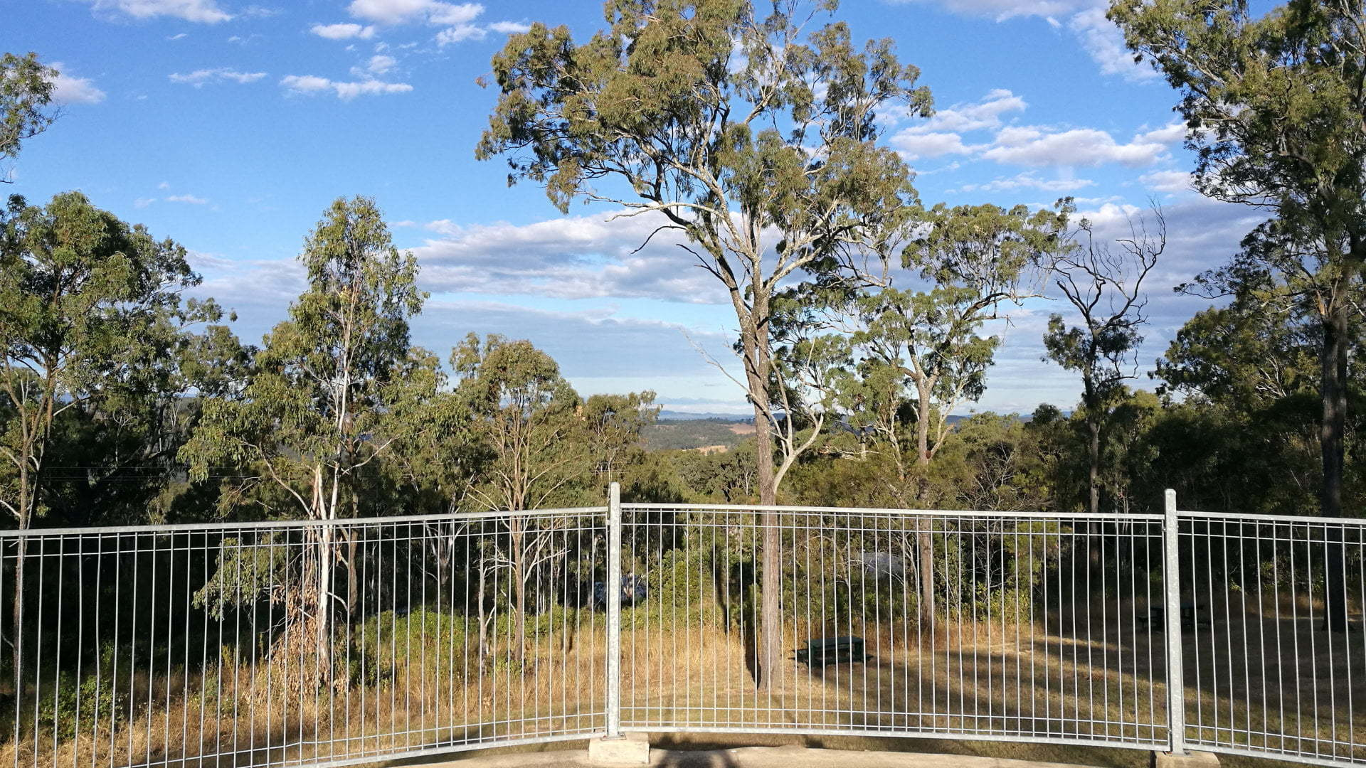 View from Lakeview Park and Lookout on the outskirts of Esk. Views are meant to be over Wivenhoe Dam, however trees have grown to mostly obscure the views.
