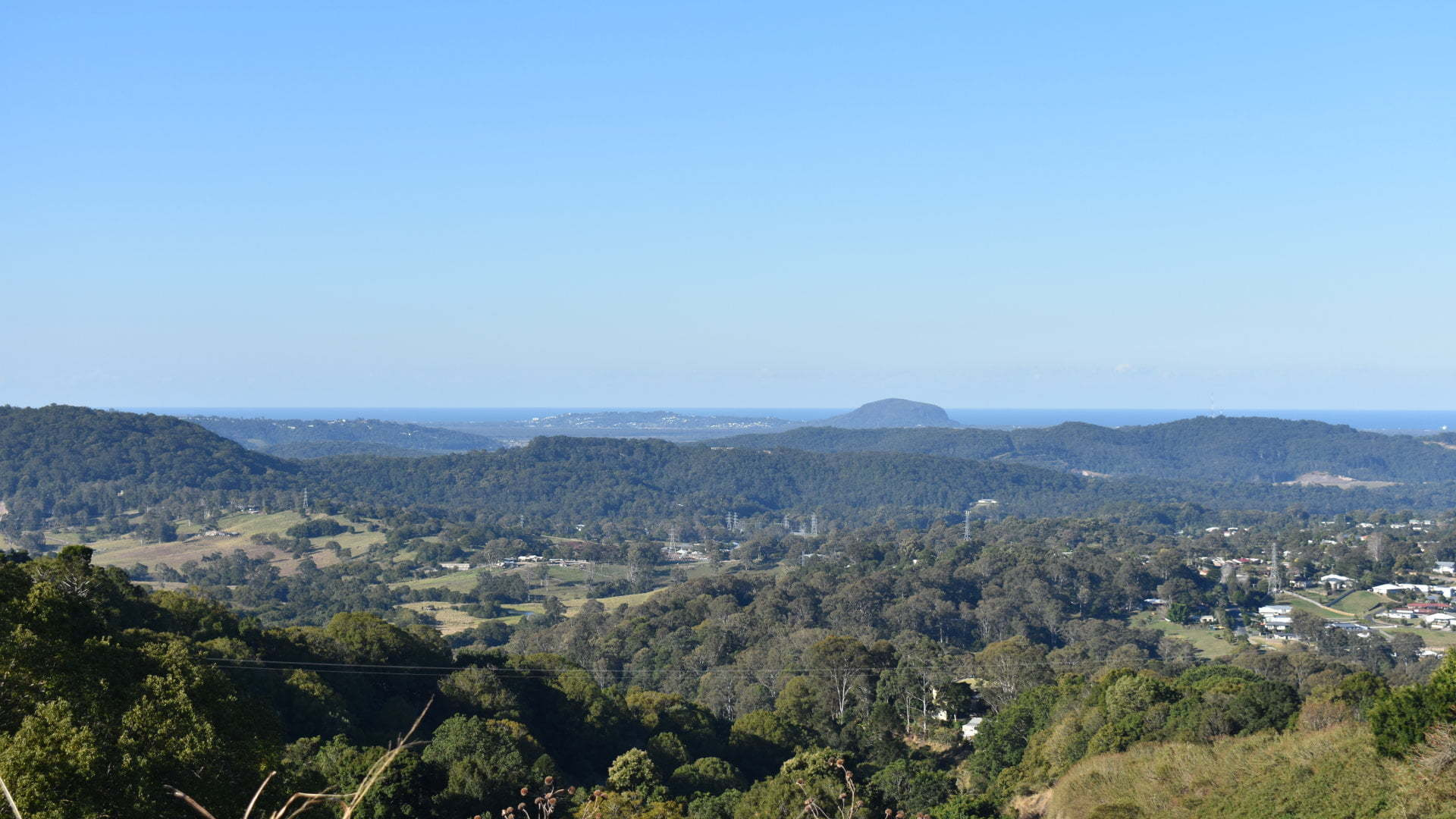 View from Kanyana Park, located between Nambour and Mapleton looking towards the coast