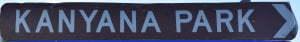 Brown sign for Kanyana Park