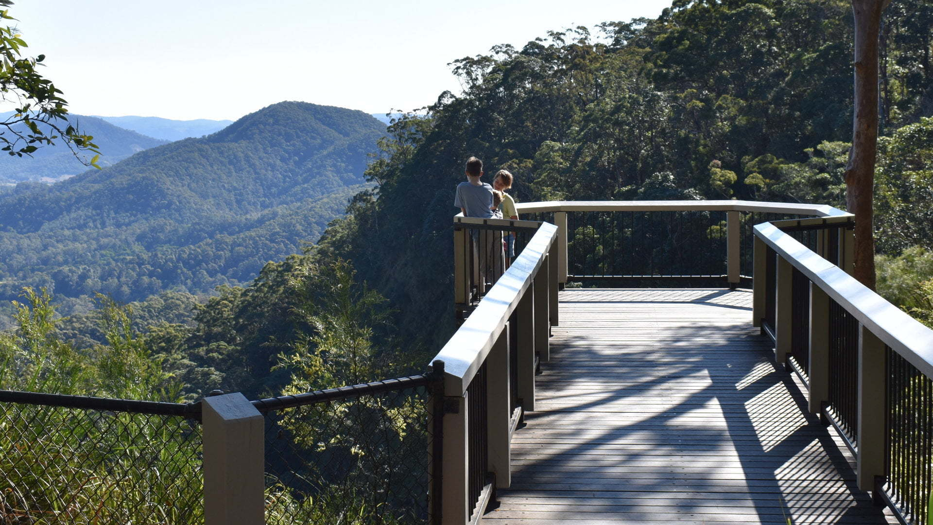 Viewing platform at the Mapleton Falls National Park