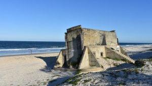 Fort Gun Bunker on the Ocean Beach at Bribie Island