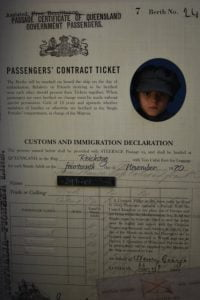 Passengers' Contract Ticket exhibit at the Customs House in Maryborough Heritage Gateway