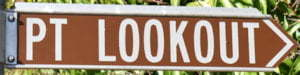 Brown sign for Pt Lookout