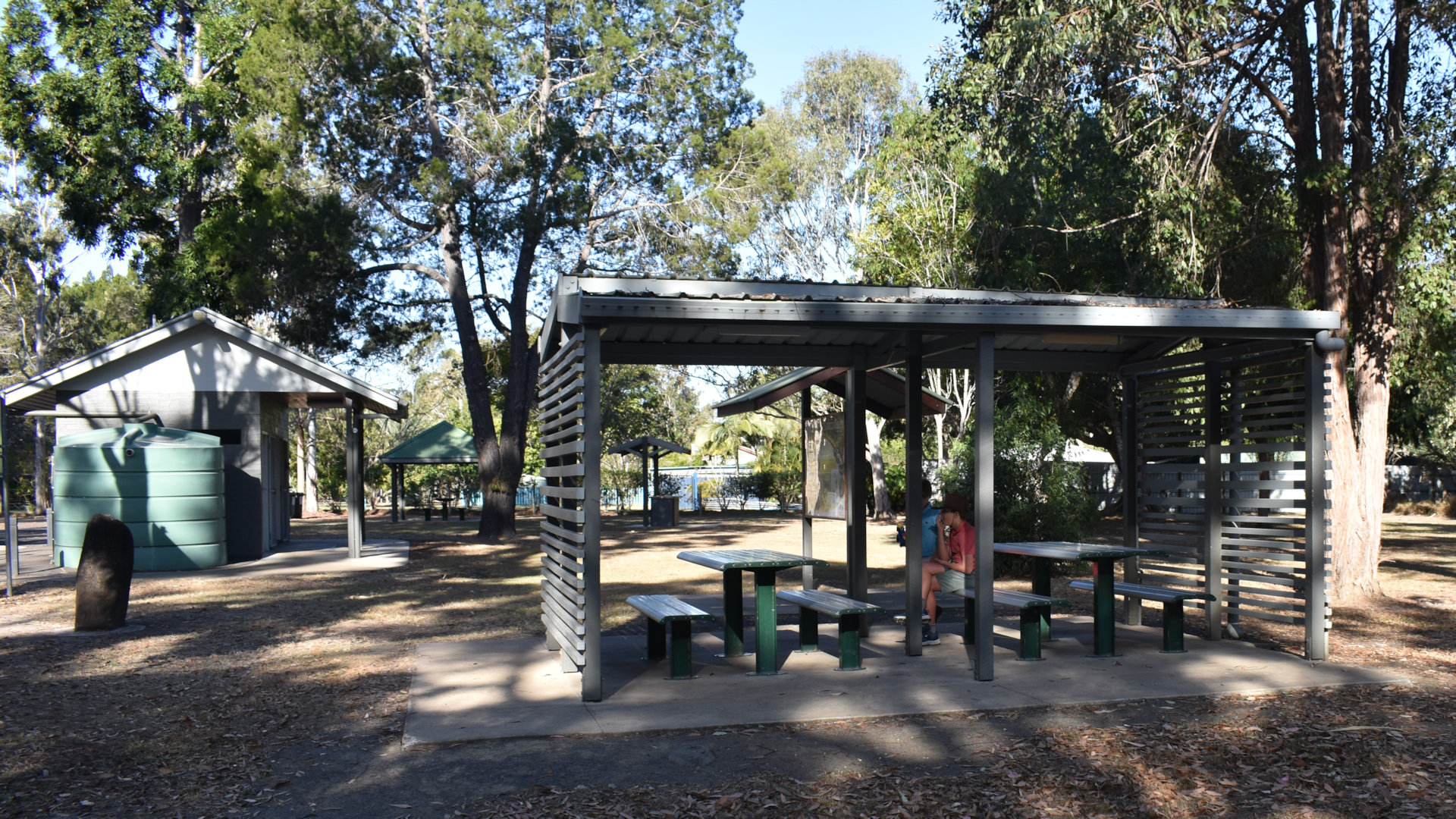 Rest stop park area, at Sharon Gorge Nature Park between Bundaberg and Gin Gin