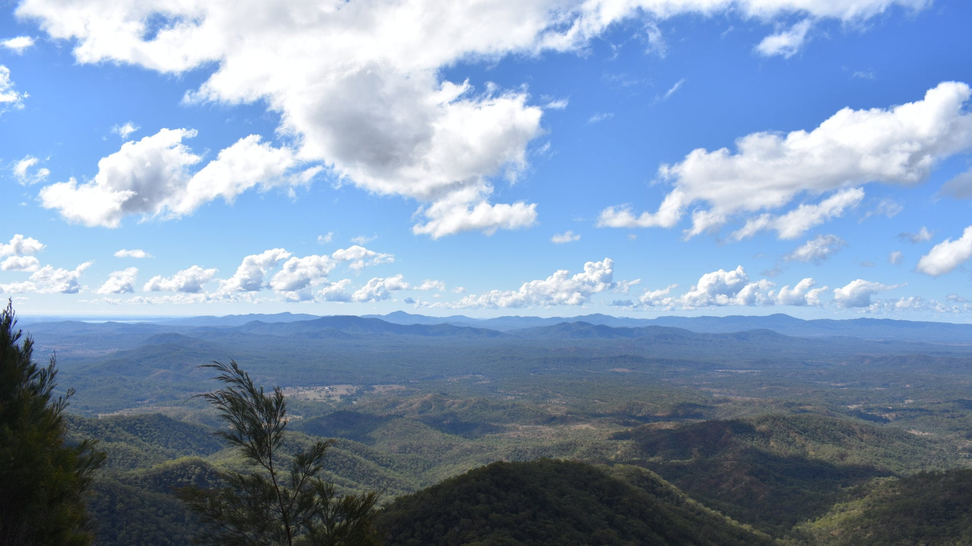 View from The Lookout at Kroombit Tops looking over the Boyne Valley. Kroombit Tops National Park north of Cania Gorge