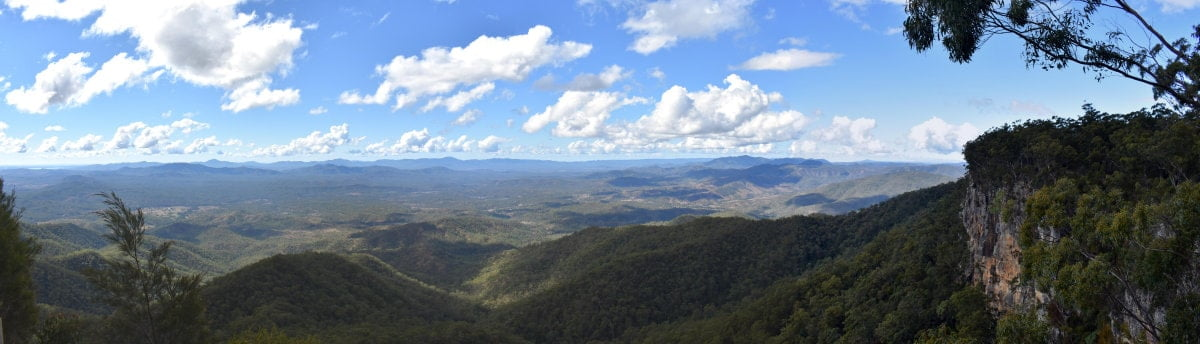Panorama view from The Lookout at Kroombit Tops National Park