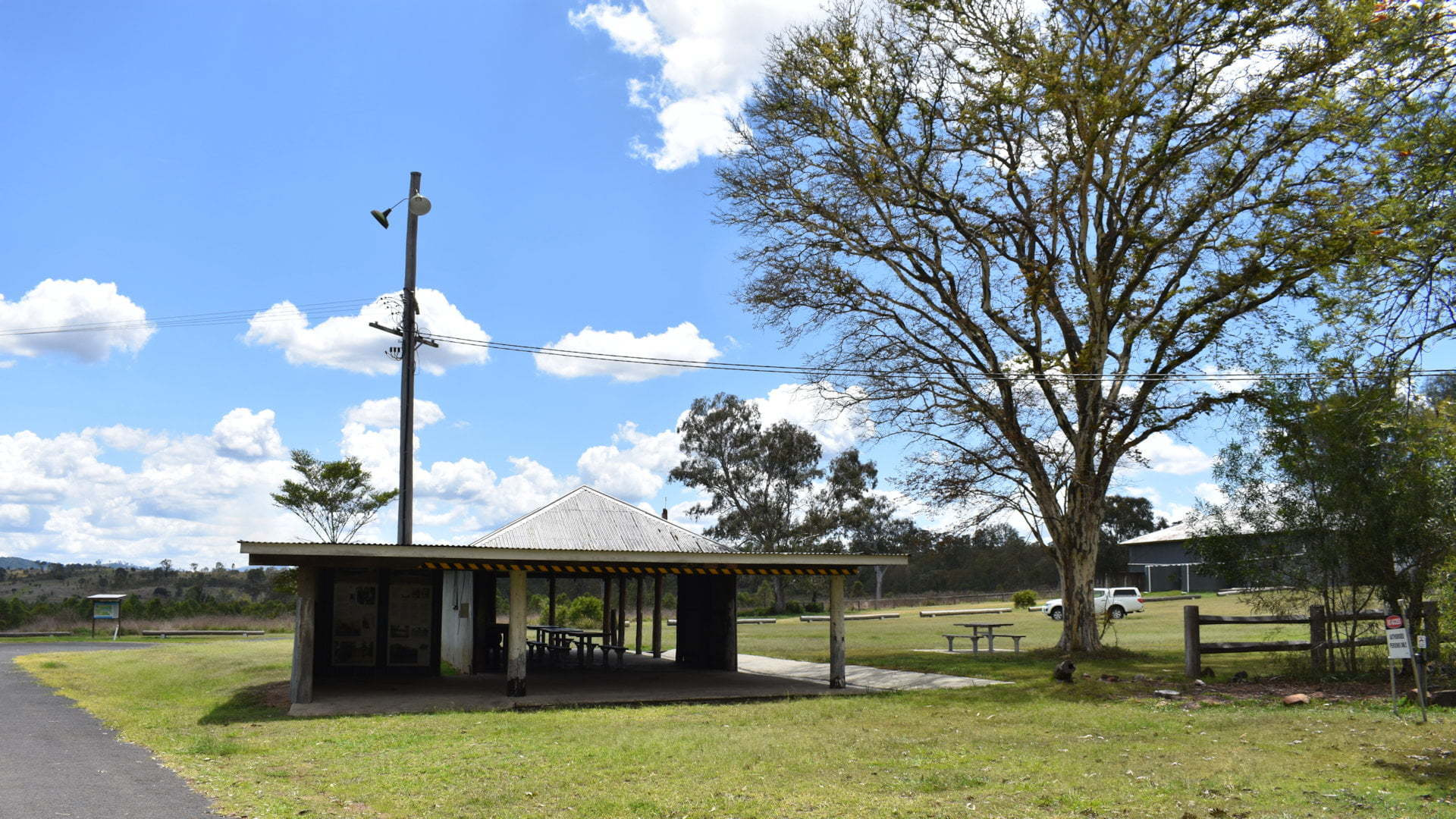Work shed at Lilybrook Recreation Area, the Western Trailhead of the Shoreline Trail along Lake Wyaralong