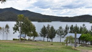 View of the Wyaralong Dam from Meebun Day Use Area