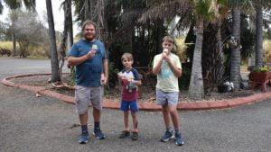 Eating ice cream from Mammino Gourmet Ice Cream in Childers