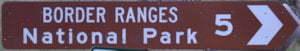 Brown sign for Border Ranges National Park