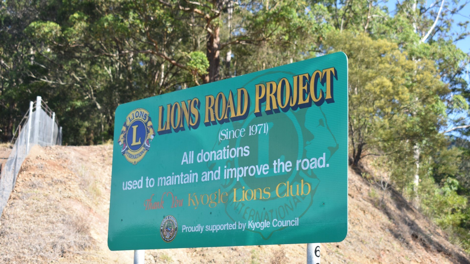 Lions Road Project, Lions Road at the New South Wales and Queensland Border