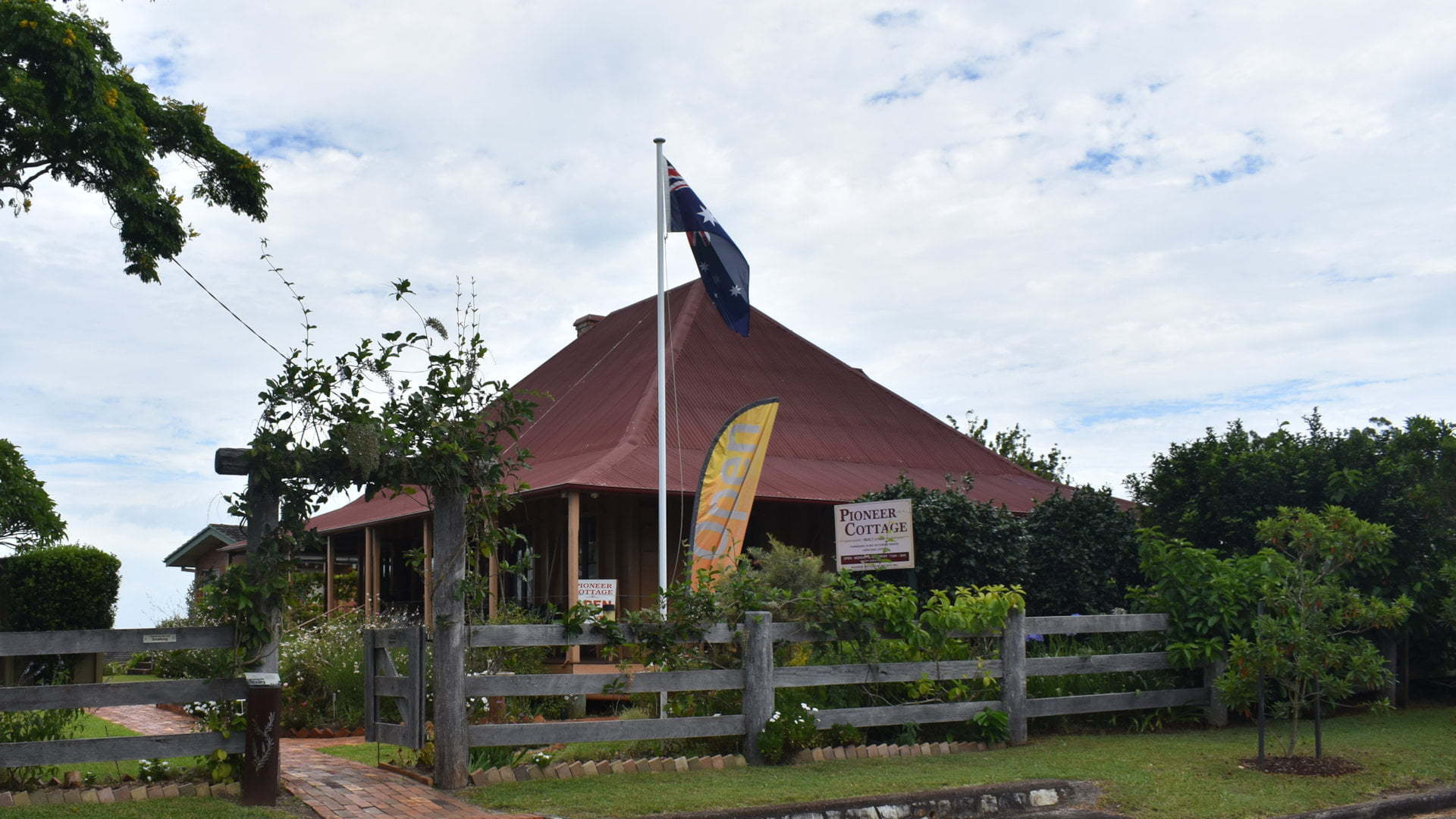 Buderim Pioneer Cottage, built around 1882 and restored since the 1960s