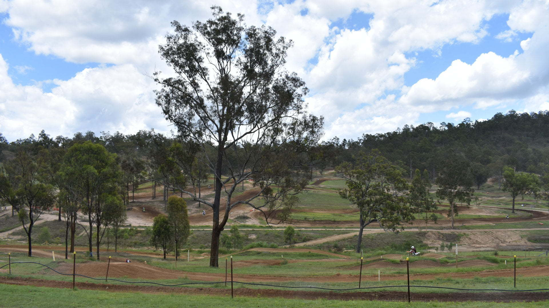 Motorbike trails in the hills, at Queensland Moto Park in the Wyaralong district in the Scenic Rim