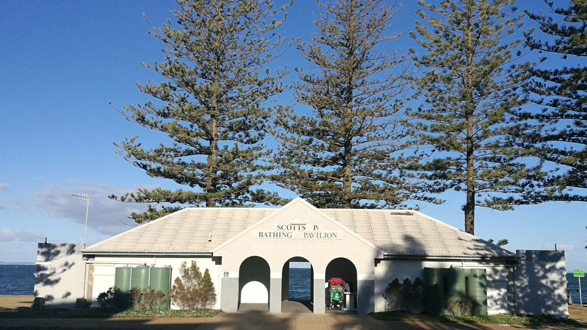 Scotts Point Bathing Pavilion, at Woody Point in Redcliffe Peninsula