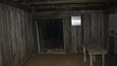 Inside the Shingle Hut at the Steele Rudd Park in the Darling Downs