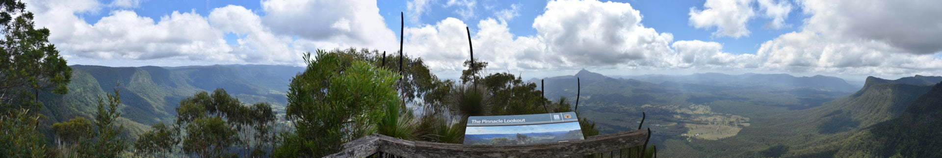 Panorama view from The Pinnacle at the Border Ranges National Park