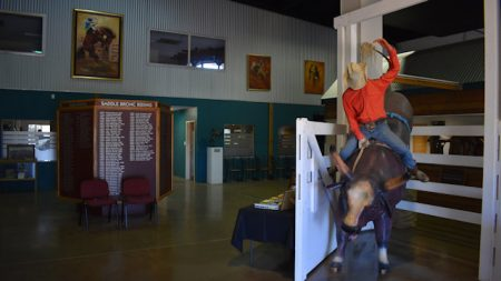 Display inside the Australian Rodeo Heritage Centre