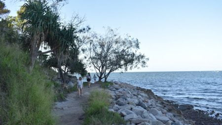 Walking track along the shoreline, north of Baxters Jetty in Shorncliffe