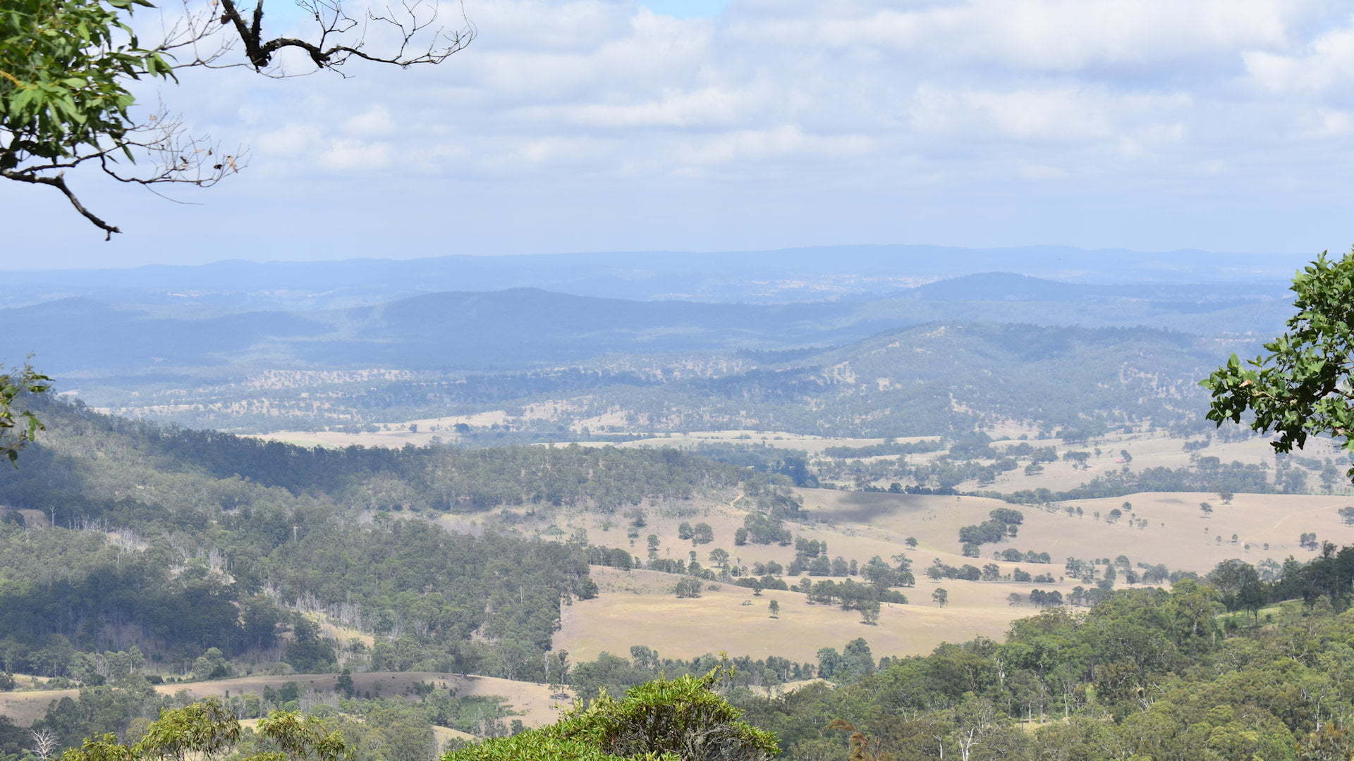 View from Tooloom Lookout on the edge of Tooloom National Park