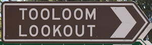 Brown sign for Tooloom Lookout
