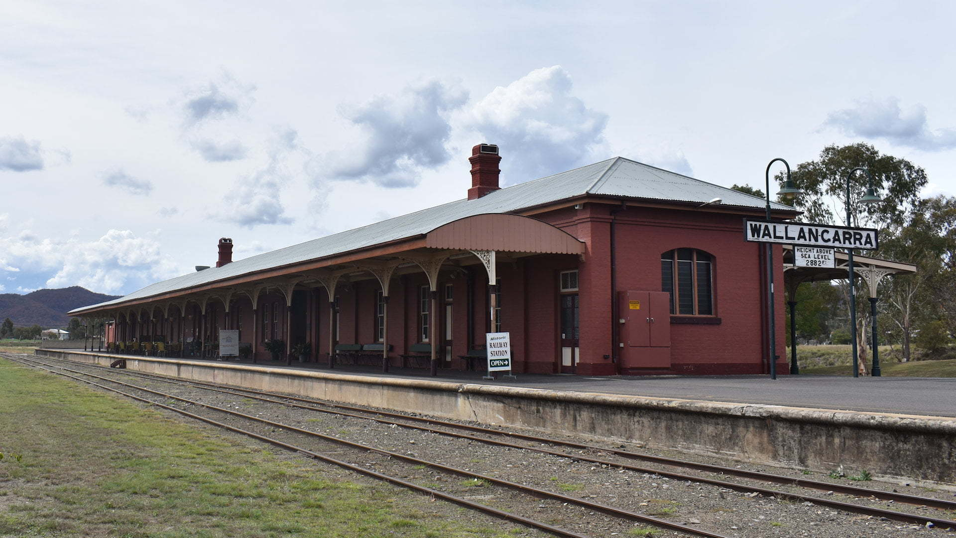 Historic railway station at Wallangarra on the Queensland and New South border