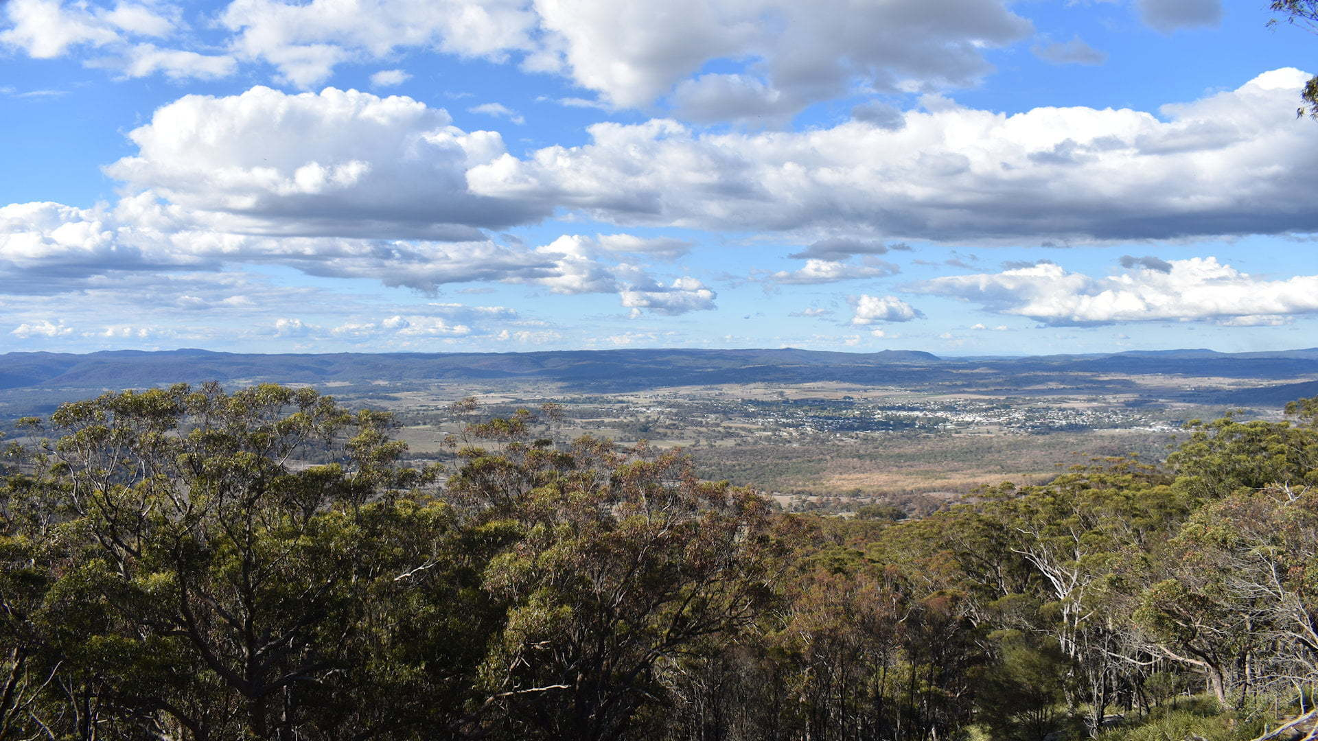 View over Tenterfield in the distance, taken from Mt Mackenzie Lookout