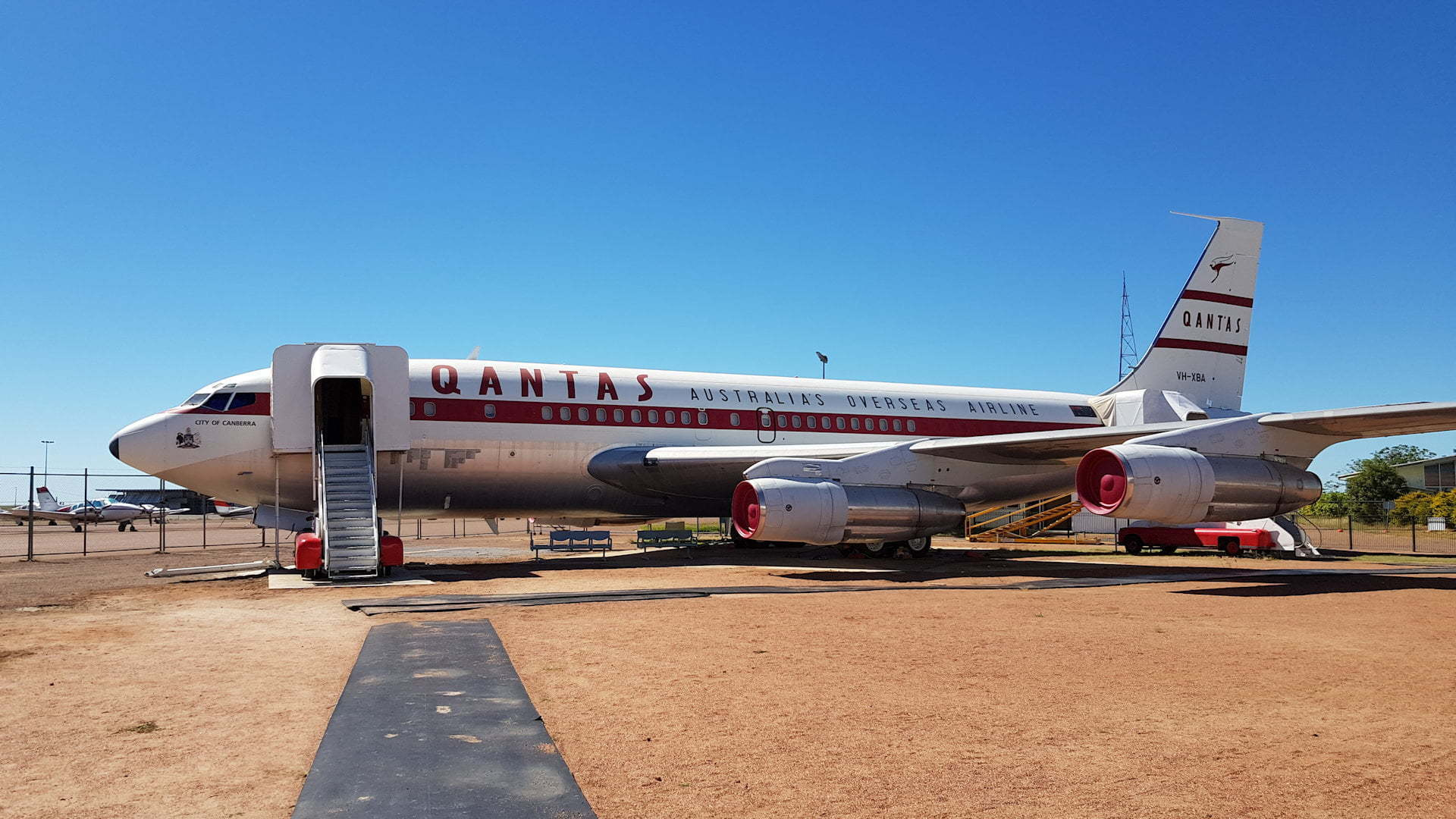 Boing 707 at QANTAS Founders Outback Museum in Longreach