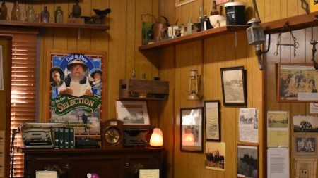 Memorabilia in Rudd's Pub in Nobby, where the author Steele Rudd wrote many of his stories of Dad and Dave