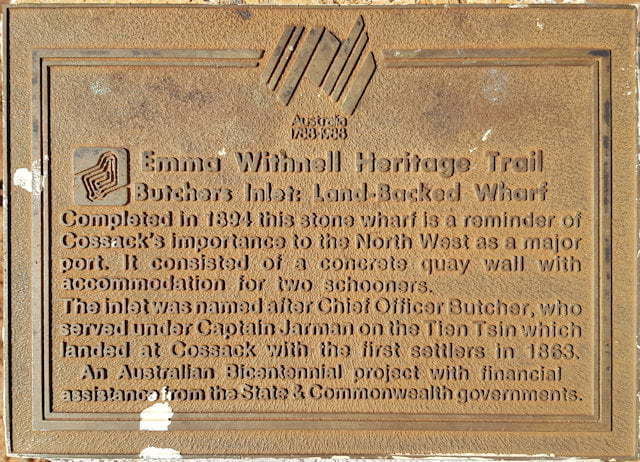 Emma Withnell Heritage Trail - Butchers Inlet Land-backed Wharf