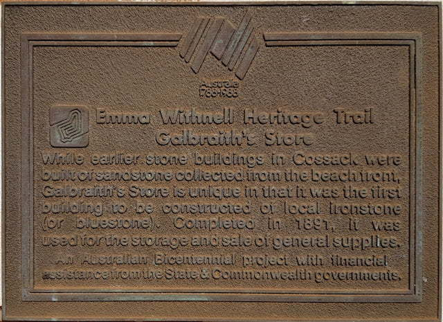 Emma Withnell Heritage Trail - Galbraith's Store