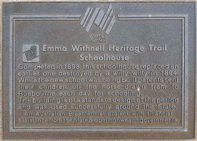 Emma Withnell Heritage Trail - Schoolhouse