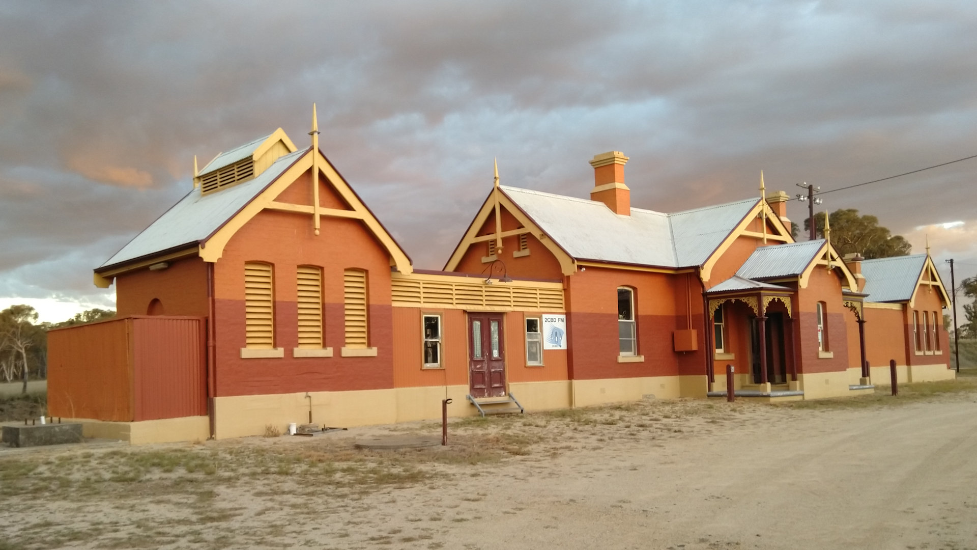 Historical railway station building at Deepwater in NSW
