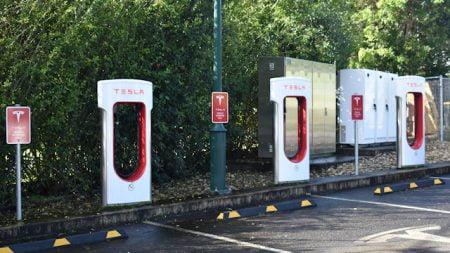 Tesla charging stations at Macadamia Castle, north of Ballina