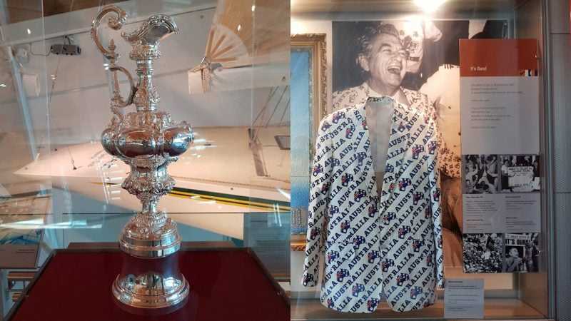 America's cup and Bob Hawke's Australia Jacket from the America's Cup victory by Australia II in 1983