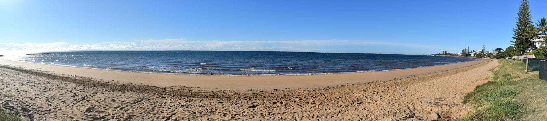 Panorama view of Queens Beach on the Redcliffe Peninsula