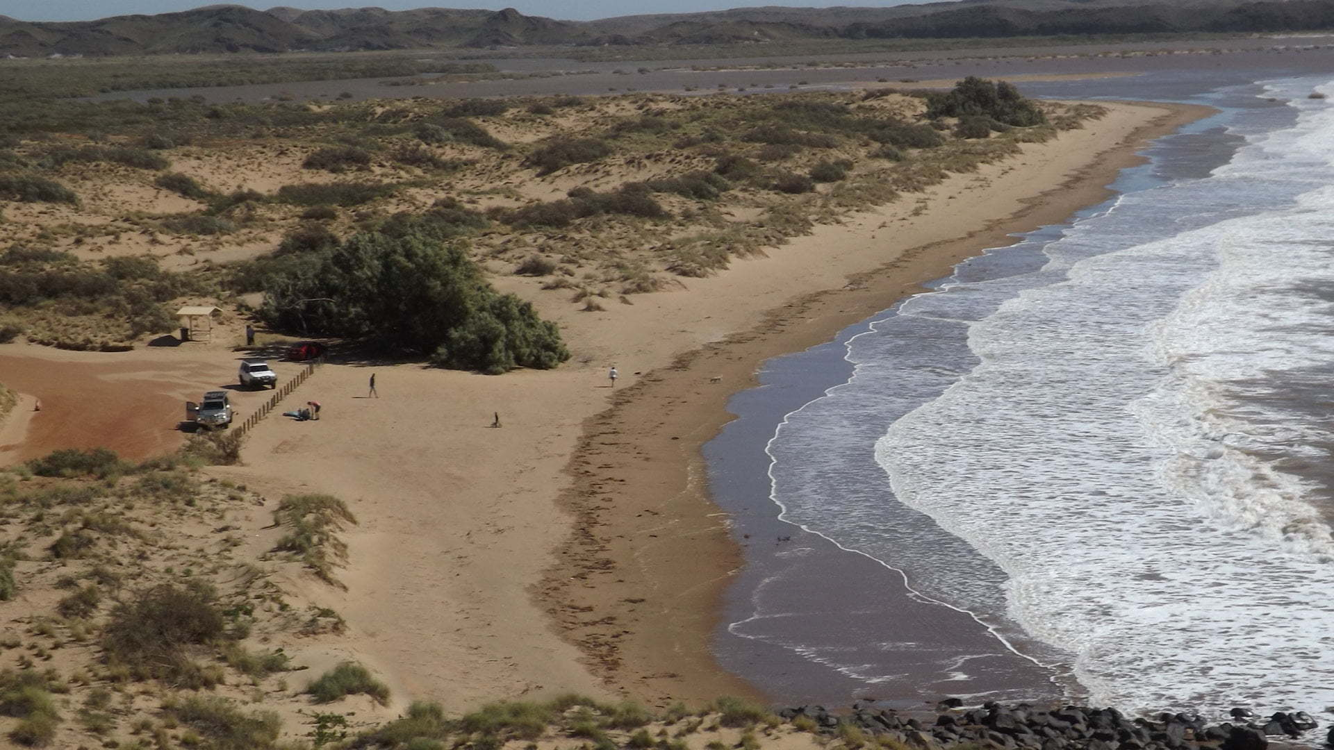 View over Settlers Beach at Cossack in Western Australia